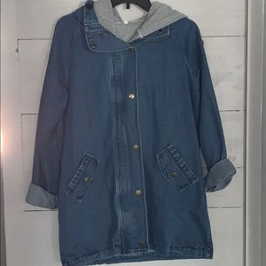 Jean jacket with insert